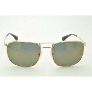 Prada SPR 52T Sunglasses 5AK-4L0 Gold / Black